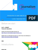 Introduction to open data for journalists