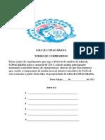 Termo de inscrição da Copacabana