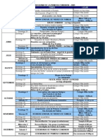 Cronograma de La Primera Comunion