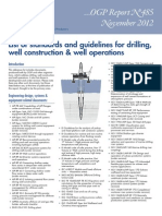 List of standards and guidelines for drilling,well construction & well operations