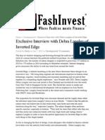 130107 Fashinvest Interview