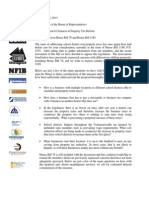 Property Tax Coalition Letter