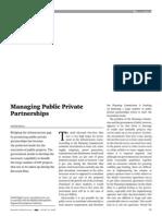 Managing Public Private Partnerships