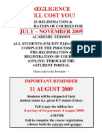 Pre Registration JULY NOV 2009 Students