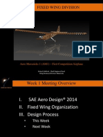 Aero Mavericks Fixed Wing Presentation Week 1