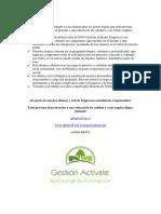 Alianzas y beneficios con ONG Gestión Actívate