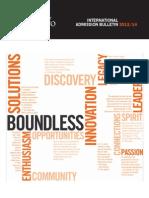 International University Admission Bulletin
