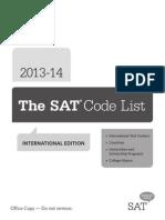 Sat Code List International