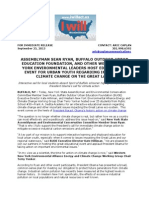 Climate Action Event - Media Release - September 25, 2013