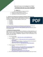 Module 1 3 Health Information on the Internet Workbook Spanish 2011 12