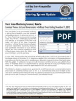 Fiscal Monitoring System Update