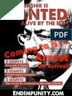 Arrest Bashir in New York
