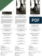 2013 Yoga Schedule A