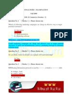 IT430- E-Commerce (Session - 2) Final Term 2008