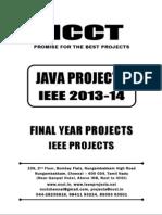 2013-14 Ieee Java Ieee Project Titles Yr 2013-2014, Ncct Java Ieee Project List