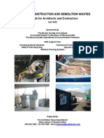 Recycling Construction and Demolition Wastes a Guide for Architects and Contractors