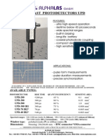 Ultrafast Photodiode InGaAs