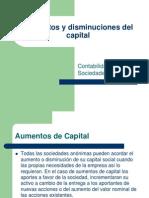 Aumentos y Disminuciones Del Capital