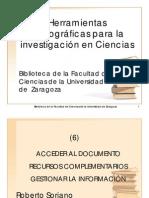 Herramientas bibliográficas para la investigación en CienciasBiblioteca