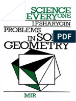 MIR - Science for Everyone - Sharygin I. F. - Problems in Solid Geometry - 1986
