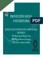 Proyeccion Social Universitaria