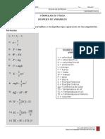 Ejercicios Despejes Fórmulas de Física