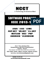Software Project Titles 2013-14, IEEE & Non IEEE Project Titles in Java, DotNET, Android, NS2, Matlab - Complete Reference