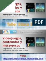 Congreso eDuca'09_Videojuegos y Metaversos