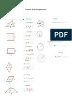 Formulas de áreas y perímetros