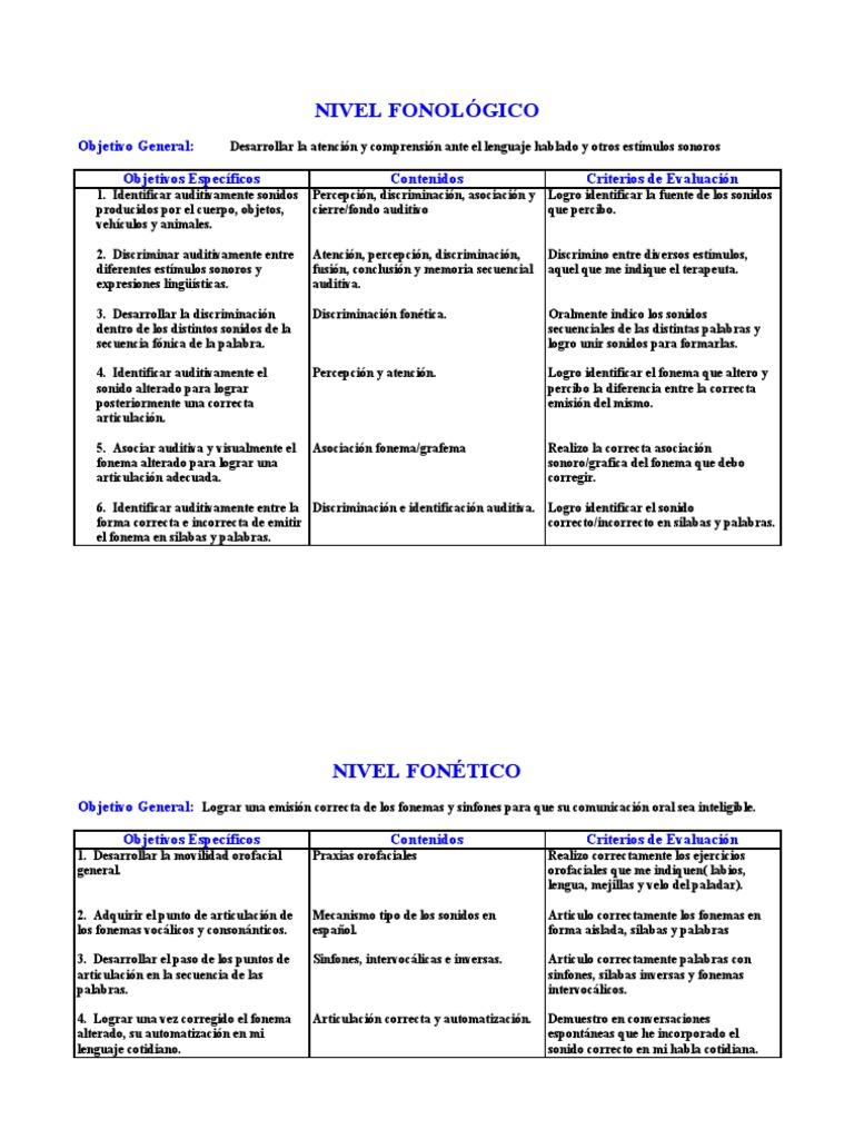 52678509 Planes Generales Terapia Del Lenguaje