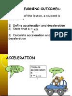 Acceleration & Deceleration Ppt