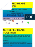 Numbered Head Together (NHT)
