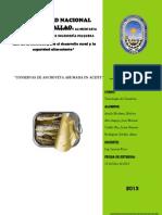 DIAGRAMA DE FLUJO PARA LA ELABORACIÓN DE CONSERVAS DE ACHOVETA AHUMADAS EN ACEITE