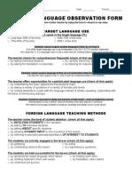 FL Observation Form