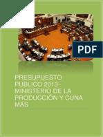 PRESUPUESTO PÚBLICO 2013
