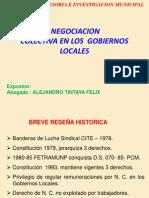 NEGOCION  COLECTIVA EN LOS GOBIERNOS LOCALES - CAÑETE Oct. 2012