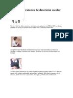 Principales razones de deserción escolar.doc
