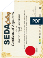 SEDA - Certificate of Appointment