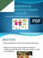 Programas de Tratamiento en Terapia Familiar