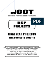 2013-14 Ieee Dsp Project Titles, Ncct - Ieee 2013 Dsp Project List