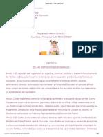 Reglamento __ _Los Pequeñines_
