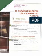 El Consum Musical a La Societat Actual. Activitats