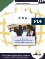 Http Ava.grupouninter.com.Br Claroline176 Claroline Document Goto Url= Aula 1 Relacao Escola Comunidade - Profa Daniele Farfus