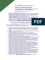 Definicion de Programa de Mantenimiento Archivo de La Web Grafia