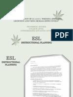 ESL Intermediate College Level Instructional Plan