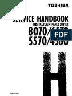 Toshiba DP 4580 5570 6570 8070 Service Handbook