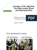 "Gender Justice on ""Pink Shaming"" and the Pink Locker Room Tradition"