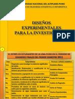 EXPOS. DISEÑOS EXPERIMENTALES