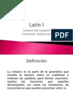 Latín I - Funciones sintácticas del español
