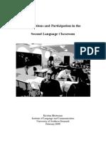 Kristian Mortensen the Second Language Classroom